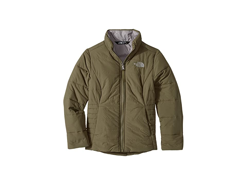 The North Face Kids All Season Insulated Jacket (Little Kids/Big Kids) (Burnt Olive Green/Metallic Silver (Prior Season)) Girl