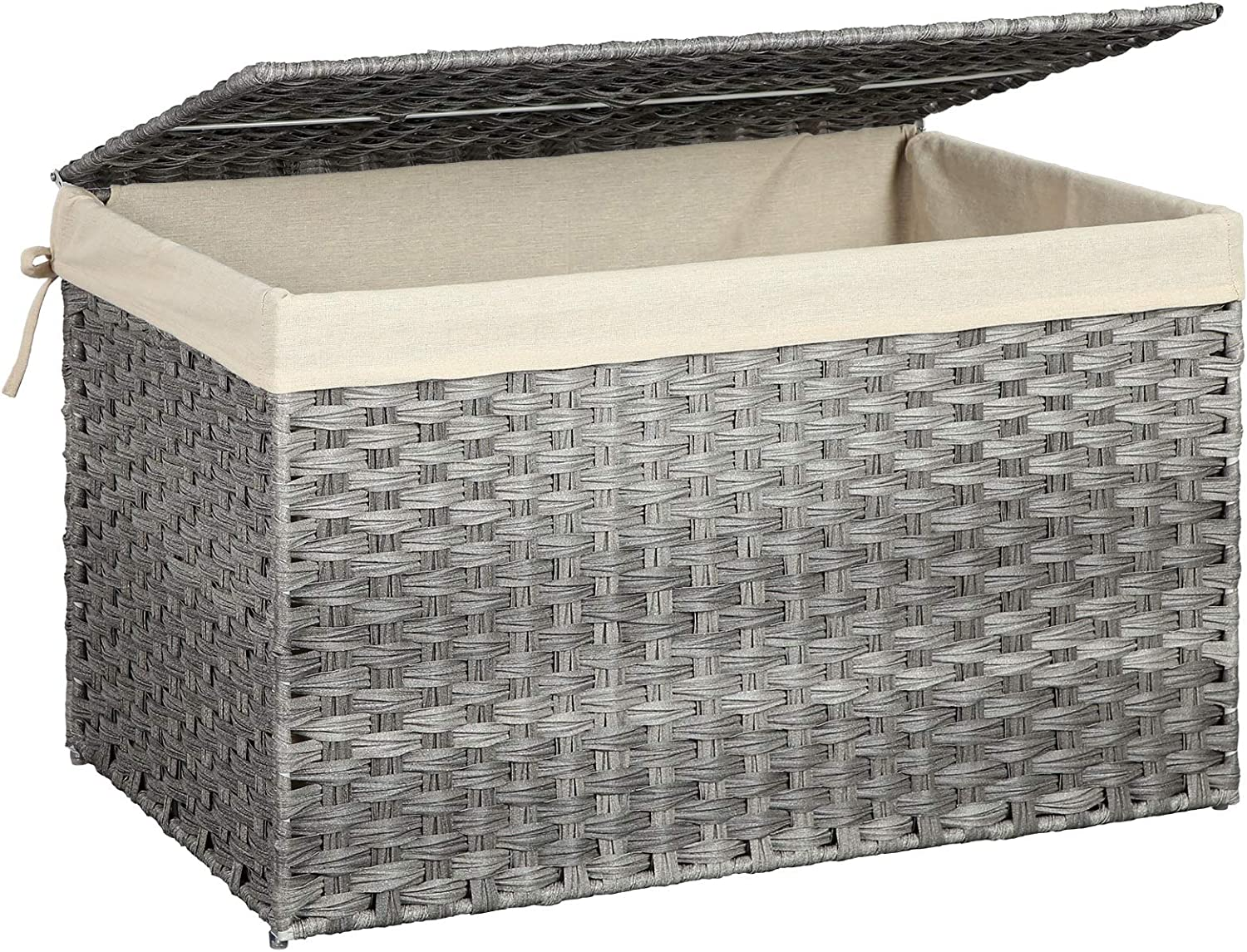 SONGMICS Storage Box Max 87% Max 59% OFF OFF with Bas Liner Rattan-Style Cotton