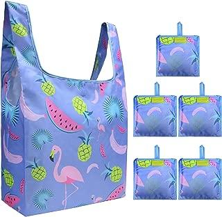 Reusable Grocery Bags Land Animals W15*H15.7*D5.9 Purple Flamingo