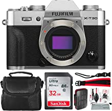 $929 Get Fujifilm X-T30 4K Wi-Fi Mirrorless Digital Camera (Body Only) - Silver with 32GB Bundle and Travel Photo Cleaning Kit
