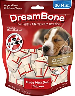 DreamBone Mini Dog Bone Chews With Real Chicken, Rawhide Free Chews for Dogs