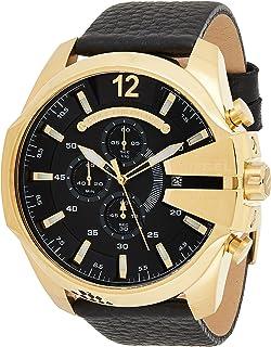 ساعة انالوج ستانلس ستيل للرجال من ديزل بمينا سوداء اللون - DZ4344