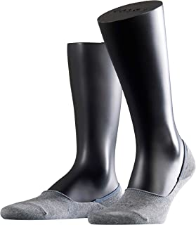 FALKE Men's Invisible Step Liner Socks Cotton Black White More Colours No Show Hidden In Shoe Low Cut Sock Footsies For Su...