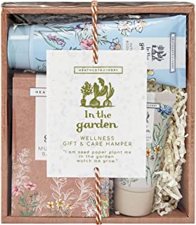 Heathcote & Ivory In The Garden Wellness Gift & Care Hamper, 100Ml Intensive Body Cream, 50Ml Invigorating Body Wash And 2...