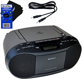 Sony Compact Portable Stereo Sound System Boombox with MP3 CD Player, Digital Tuner AM/FM Radio, Tape Cassette Recorder, H...