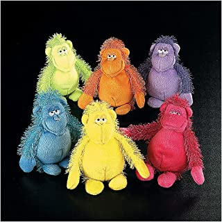 Fun Express Plush Gorillas (12 Stuffed Animal Toys) Great for Party Favors and giveaways