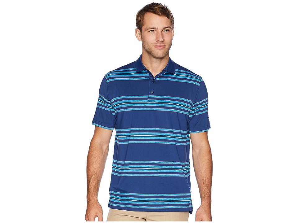 Callaway Regimental Space Dye Striped Polo (Estate Blue) Men