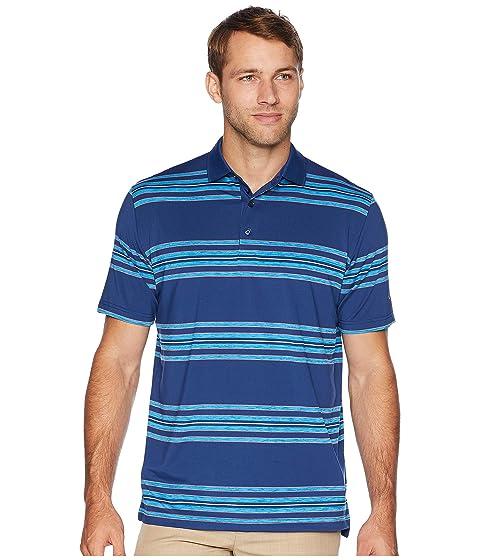 CALLAWAY Regimental Space Dye Striped Polo, Estate Blue