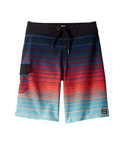 Billabong Kids All Day Stripe Pro Boardshorts (Big Kids) (Foam) Boy