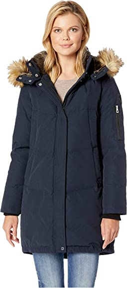 Heavy Weight Down with Faux Fur Hood and Trim R1011