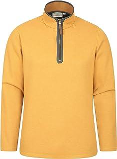 Mountain Warehouse Beta Mens Zip Neck Top - Half Zip Sweater, Warm Microfleece Lining, Lightweight - Ideal for Cold Weathe...