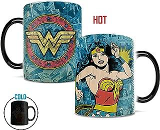 Morphing Mugs DC Comics Originals (Wonder Woman Retro Logo) Heat Reveal Ceramic Coffee Mug - 11 Ounces