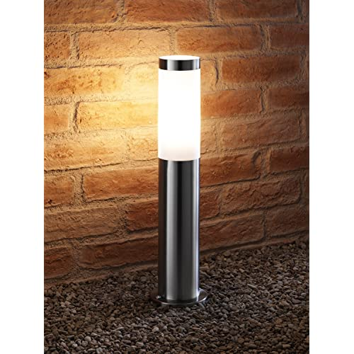 5w Cool White LED Light Bulb Included Auraglow Ultra Modern Weather Resistant Outdoor Garden Path Post Light