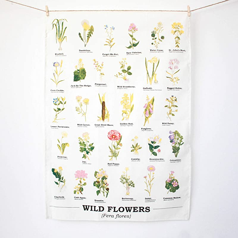 Gift Republic Wild Flower Tea Towel