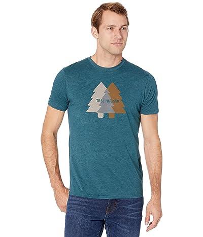 tentree Tree Hugger Classic T-Shirt (Deep Teal Heather) Men