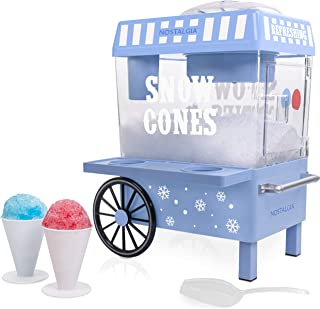 Nostalgia SCM525BL Vintage Countertop Snow Cone Maker Makes 20 Icy Treats, Includes 2..