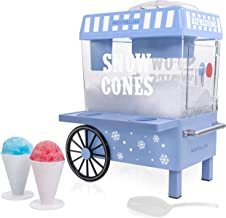 Nostalgia SCM525BL Vintage Countertop Snow Cone Maker Makes 20 Icy Treats, Includes 2 Reusable Plastic Cups & Ice Scoop – ...