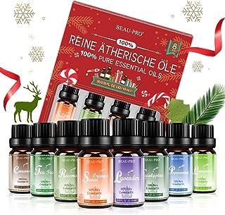 Aceites Esenciales 100% Puros Naturales, 8 * 10ml Set de Aromaterapia Aceites Esenciales para Humidificador y Diffusor-Lav...