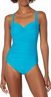 Maxine Of Hollywood Women's Twister Print Sweetheart Mio Swimsuit