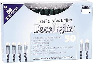 Darice LT505-1 Clear 50-Mini Globe Light Set with Green Cord