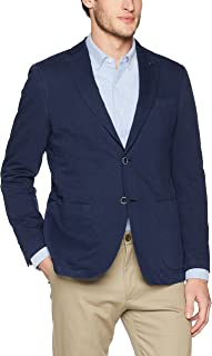 Men's Two Button Unconstructed Single Breasted Navy Blazer