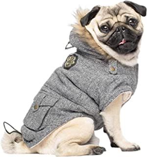 Canada Pooch   Alaskan Army Dog Parka   Sherpa-Lined Hooded Dog Coat