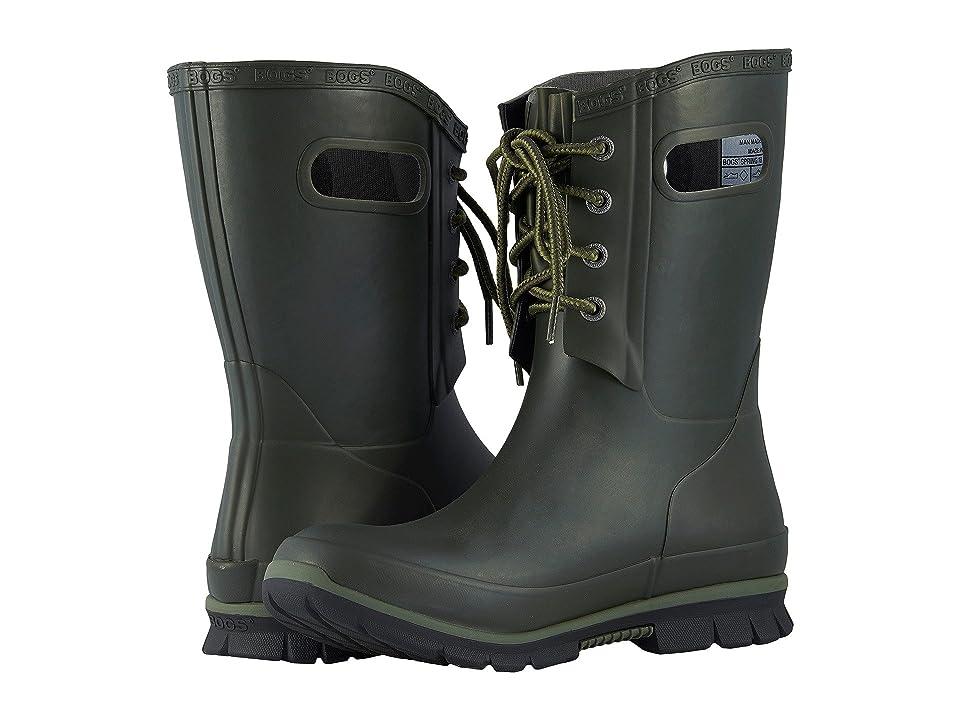 Bogs Amanda 4-Eye Boot (Dark Green) Women