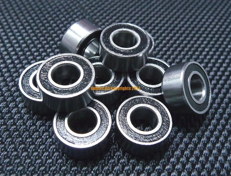 FidgetKute [Black] (50 PCS) 686-2RS (6x13x5 mm) Rubber Sealed Ball Bearing Bearings 686RS