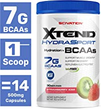 XTEND Sport Bcaa Powder Strawberry Kiwi | NSF Certified for Sport + Sugar Free Post Workout Muscle Recovery Drink with Amino Acids | 7g bcaas for Men & Women | 30 Servings | Packaging May Vary