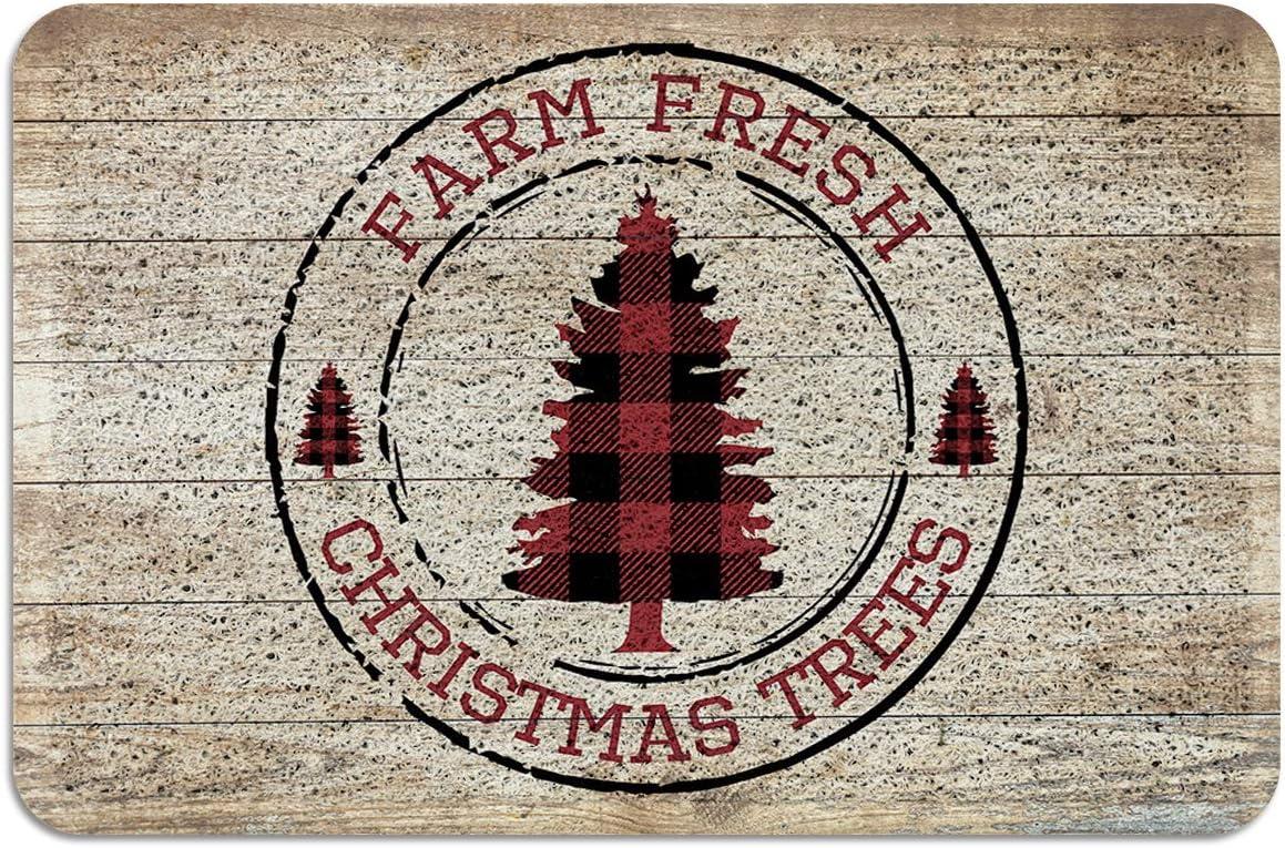 PVC Absorb Outdoor Welcome Door Farm Dealing full price reduction Christmas Trees Fresh Mats Superlatite