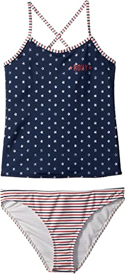 Roxy Kids Surfing USA Tankini Set (Big Kids)
