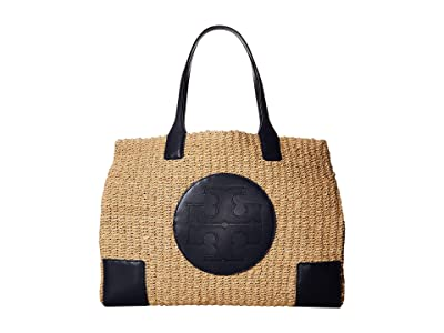 Tory Burch Ella Straw Tote (Natural) Handbags