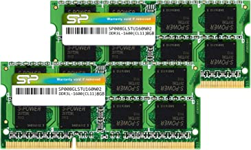 Silicon Power 16GB (2 x 8GB) DDR3L RAM 1600MHz (PC3 12800) SODIMM Memory Compatible with Early/Mid/Late 2011, Mid/Late 2012, Early/Late 2013, Late 2014, Mid 2015 MacBook Pro, iMac, Mac Mini