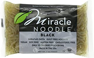 Miracle Noodle Black Shirataki Noodles, 7 oz (Pack of 6), Angel Hair Pasta, Low Carbs, Low Calorie, Gluten Free, Soy Free, Keto Friendly