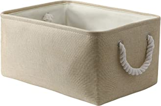SAMORADREA Storage Basket Bins - Decorative Baskets Storage Box Cubes Containers with Handles for Clothes Storage Toys, Bo...