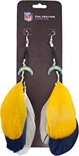 NFL San Diego Chargers Feather Earrings