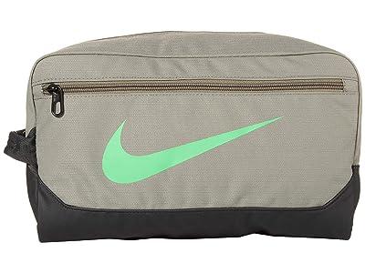 Nike 11 L Brasilia Shoe 9.0 (Dark Stucco/Dark Smoke Grey/Green Spark) Bags