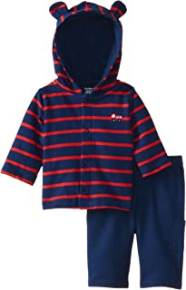 Gerber Baby-Boys Newborn Hooded Cardigan and Pant Set