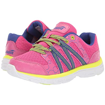 Avia Kids Rhea (Little Kid/Big Kid) (Pink Energy/Sodalite Blue/Highlighter Lime) Girls Shoes
