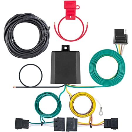 amazon.com: curt 56120 vehicle-side custom 4-pin trailer wiring harness,  select ford edge: automotive  amazon