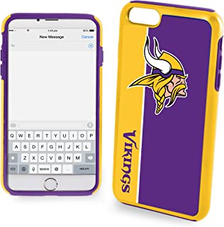 Forever Collectibles Iphon 7Plus Bold Series Dual Hybrid Case for NFL Minnesota Vikings - Compatible with Iphone 6S Plus/6 Plus