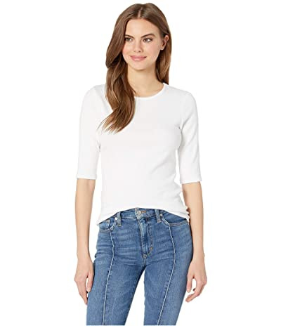 Michael Stars Tara Ultra Rib Slim Crew Neck Tee (White) Women