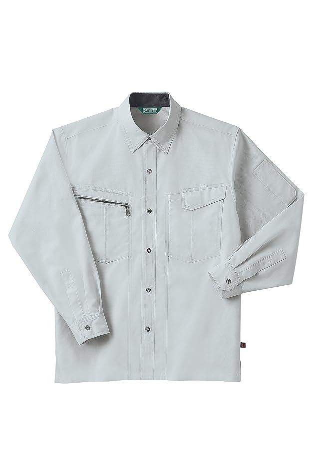 ホシ服装IDIES 883長袖シャツ シルバー サイズ:L