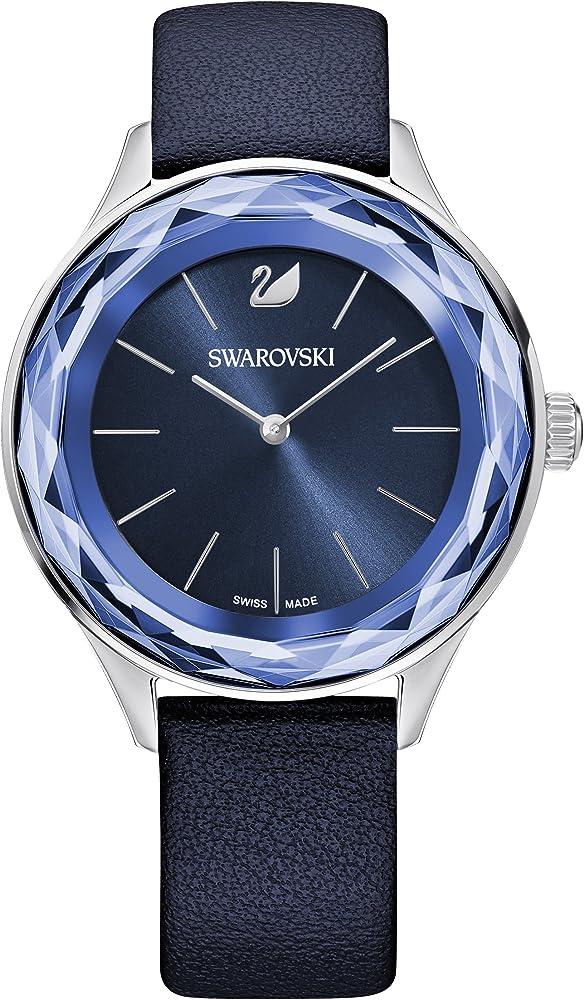 Swarovski octea nova orologio da donna in acciaio e pelle 5295349