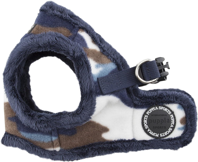 Puppia Corporal HarnessB for Pets, bluee, Medium