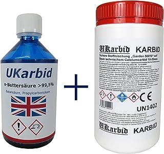 Ukarbid 2,0 Kg Karbid als Granulat mit 90% Feste Steine auf Basis europäischen technischem Calciumcabid mit 10-20 mm Abfall & Recycling