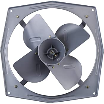 Bajaj Supreme Plus 450mm Industrial Exhaust Fan Grey Amazon In