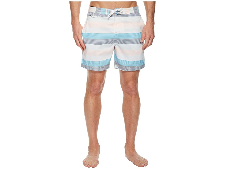 Original Penguin Stripe Swim Trunk (Impatiens Pink) Men