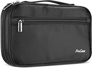 ProCase Cosmetic Makeup Bag Brush Holder Case Organizer Beauty Storage Bag with Hand Strap Makeup Handbag for Travel and Household Storage –Black