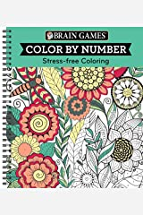 Brain Games - Color by Number: Stress-Free Coloring (Green) Spiral-bound